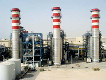 A power plant at Taweelah in Abu Dhabi