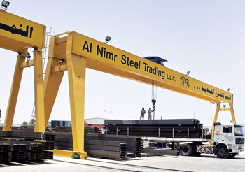 Al Nimr Steel Trading's stockyard in Dubai