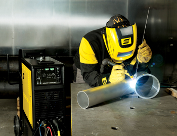 An Esab demonstration of TIG welding