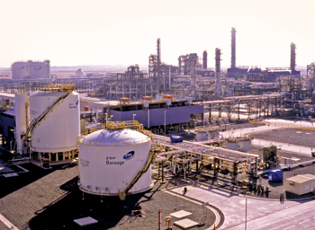 The Borouge production facilities in Abu Dhabi