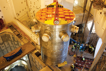 A nuclear reactor pressure vessel in Olkiluoto 3, Finland (image from us.arevablog.com)