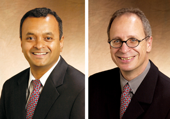Kalyanaraman (left) and Duscher, University of Tennessee professors