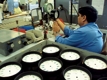 Testing of Aarico-made instruments at the company's plant in Jubail Industrial City