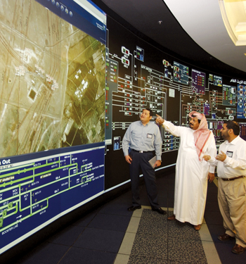 A Barco-aided display at Saudi Aramco