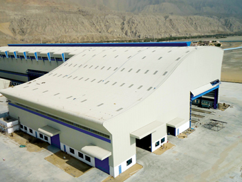 A gas production facility in Ras Al Khaimah which was built by Mabani Steel