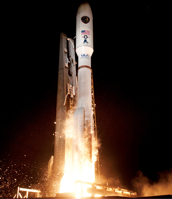 The ULA rocket takes off  (Picture from United Launch Alliance)