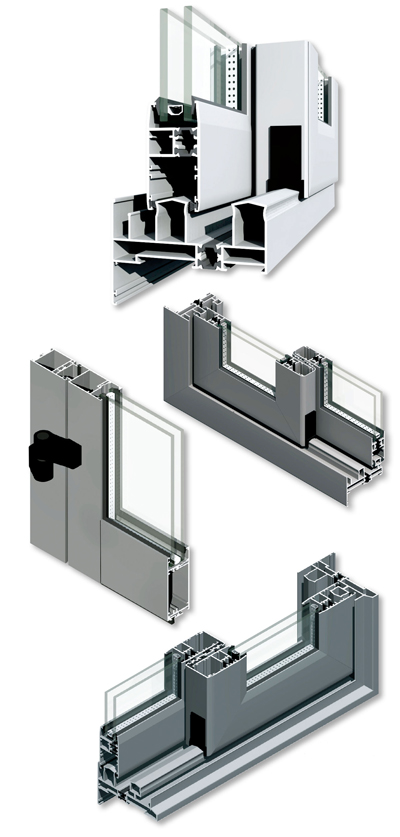 Examples of Alupco architectural systems