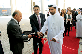 Belhoul (right) and Choucair open the new plant
