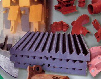Parts made for the crusher and cement industry