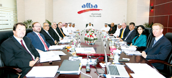 Sheikh Daij presiding over a meeting of the Alba board of directors