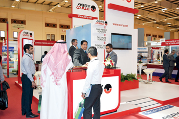 Visitors welcomed at the Asry pavilion