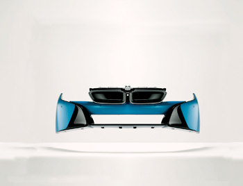 A light weight bumper material Daplen EE112AE was used for the BMW i8 sports car