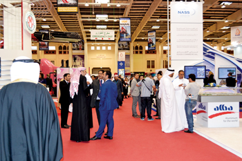 A throng of visitors at the Bahrain International Exhibition and Convention Centre, venue of Gulf In
