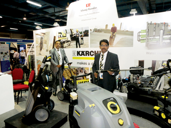 A Karcher stall at the Infra Oman show