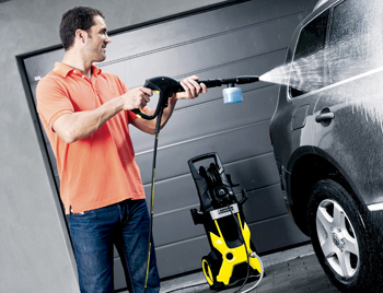A Karcher pressure cleaning instrument