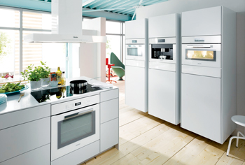 A kitchen with Miele appliances