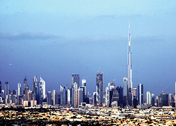 Tall ones and the tallest: the Burj Khalifa pierces the sky in Dubai