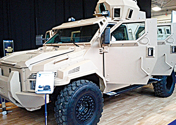 A Streit Group armoured vehicle