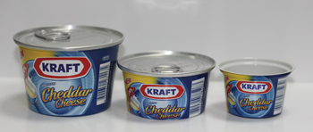 The prize-winning easy-open two-piece aluminium cheese can