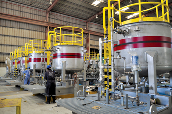 Aramco Khuff gas wells project – corrosion inhibitor skids under fabrication at GSW
