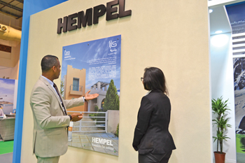 Hempel Paints displayed its latest products at gulfInteriors