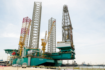 NDC's rig Butinah was officially named at a ceremony held in Lamprell's Hamriyah facility in March