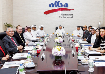 Sheikh Daij presiding over a second-quarter meeting of the company's board of directors