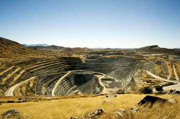 An open pit of QKR's Navachab gold mine, Namibia. Qatar Investment Authority has invested in QKR