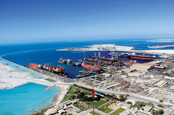 The Drydocks World Dubai shipyard