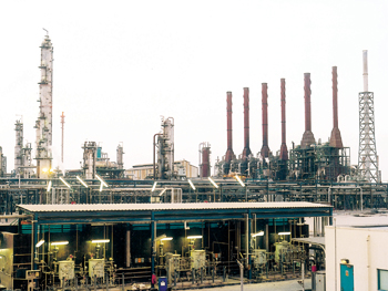 A production unit of Qatar Petrochemical Company