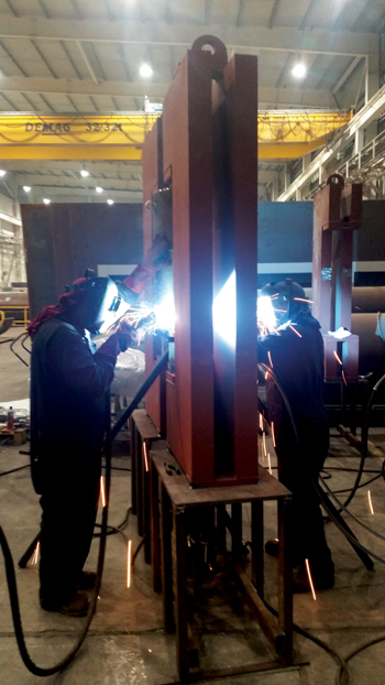 Workers at the RMA plant