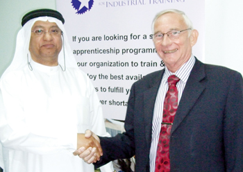 Dr Hamad with Nicolai after the signing of the NIIT-SSG agreement