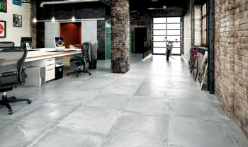 The company's Gres porcelain tiles from the Cementina series