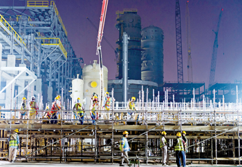 Sadara production facilities taking shape in Jubail-2