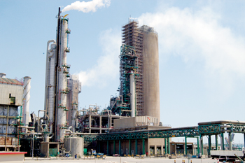 A Qafco urea production facility in Qatar
