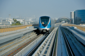 The regional metro sector is moving fastest. Pictured is the Dubai Metro