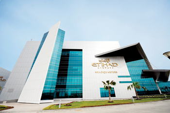 Etihad's headquarters in Abu Dhabi