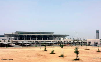 Salalah Airport, one of two Omani airports, where Thale's solutions will be used