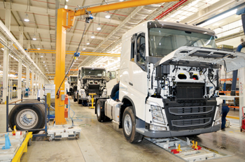 The plant in KAEC: building Volvo influence
