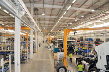 The new Volvo truck assembly plant in King Abdullah Economic City