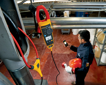 The Fluke 376 FC True-rms AC/DC Clamp Meter