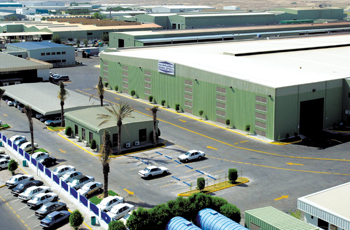 View of the company's PEB facilities in Dammam