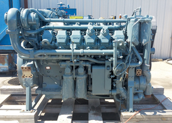 An MTU industrial diesel engine