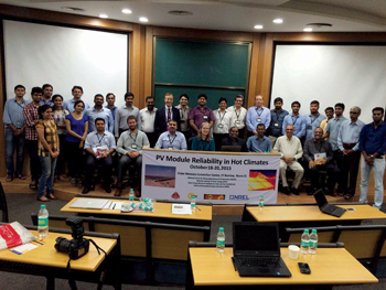 The workshop in Mumbai on PV modules that Dewa participated in