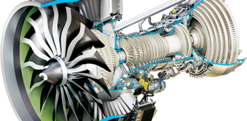 A GE9X engine