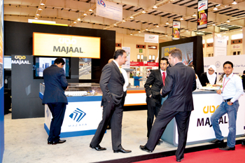 Developer and operator of industrial facilities Majaal's booth at HCE's Gulf Industry Fair in 2015