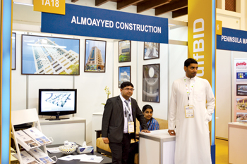 Stall of a Bahrain firm at gulfBID's edition this year