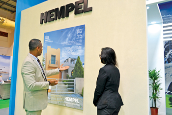 Hempel was a prominent exhibitor at gulfInteriors 2015