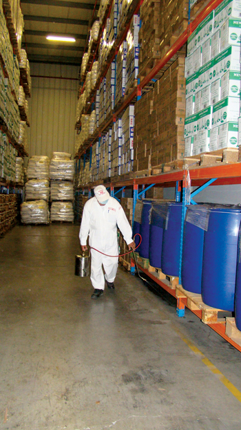 The company has long experience in tackling warehouse pests