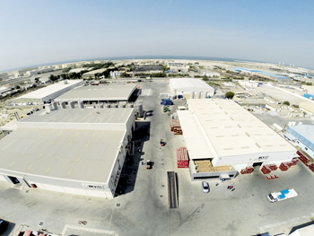 An aerial view of the new plant at Hamriyah Free Zone